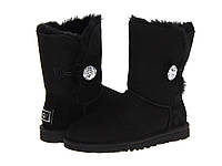 Натуральные угги UGG Australia (Угги Оригинал) Bailey Button Bling Black. Model: 5803 39