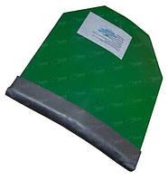 Бронепластина стальная RSS (скошенные углы) 250х300 мм. Класс защиты-4 ДСТУ (5,45х39 с пулей 7Н10, 7,62х54R с пулей ЛПС 57-H-323c)
