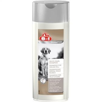 "8in1 WHITE PEARL SHAMPOO - Шампунь ""Белая жемчужина"" для собак светлого окраса 250мл"