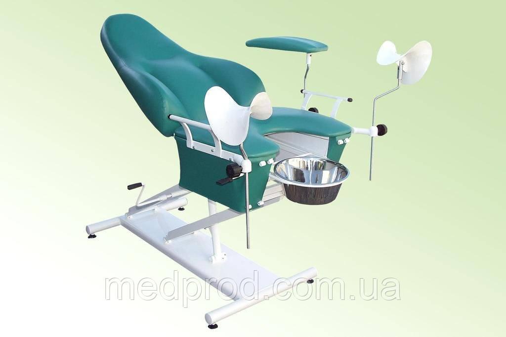 Кресло гинекологическое смотровое КС-2РМ с механической регулировкой высоты, фото 1