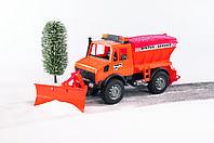Игрушка Bruder снегоуборочный автомобиль Unimog 1:16 (02572)