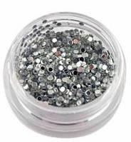 Декор для ногтей конфетти 1 мм, серебро