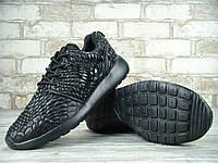 "Кроссовки Nike Roshe Run One DMB ""Triple black"". Живое фото. (роше ран, раш ране)"