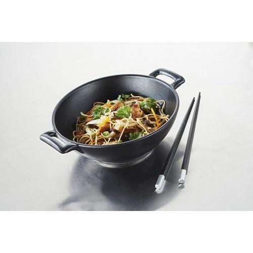 Сковорода WOK порционная Revol серия Belle cuisine, черный цвет (20 см, h7 см, 1 л)