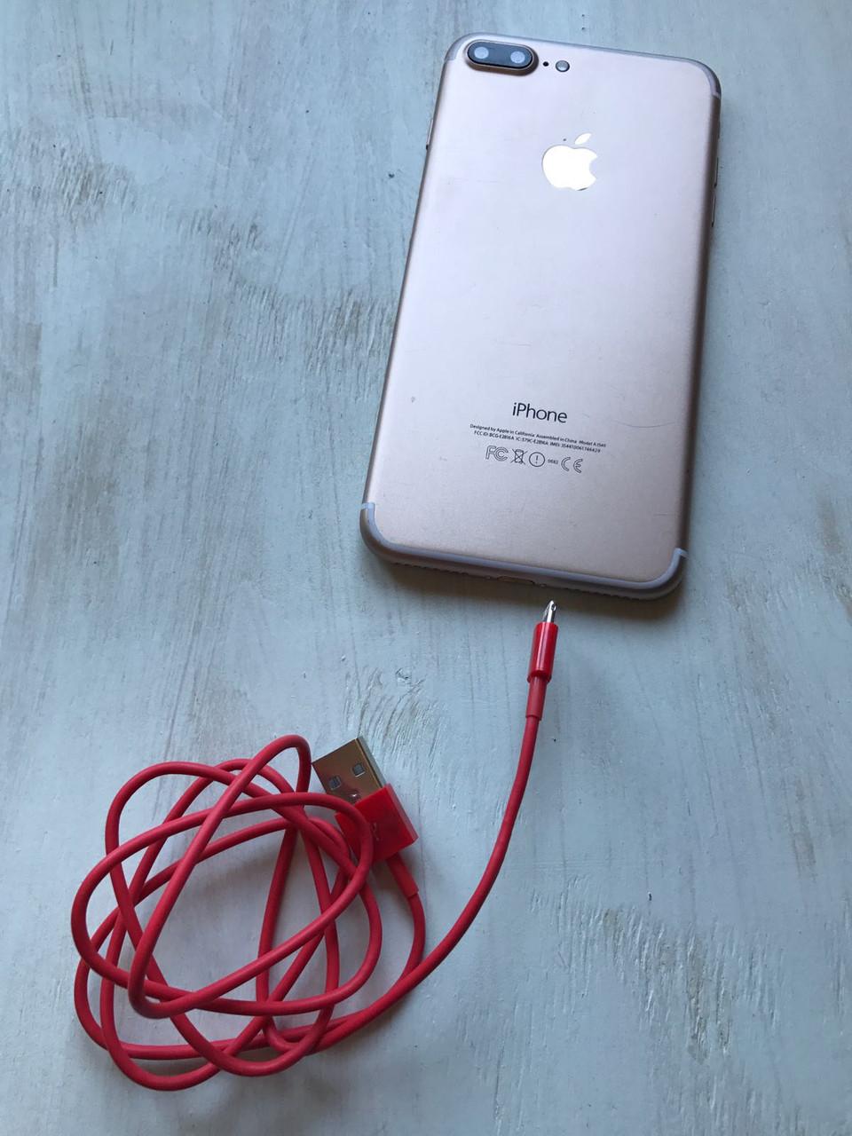 Зарядный кабель USB Charge Cable красного цвета для iPhone, iPad Mini Air