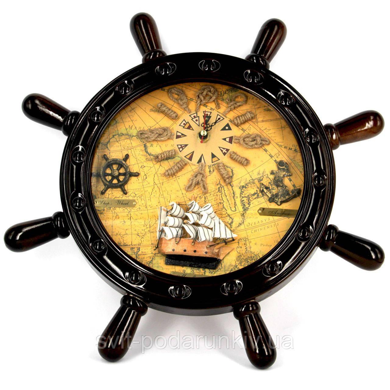 Часы в виде штурвала 024B