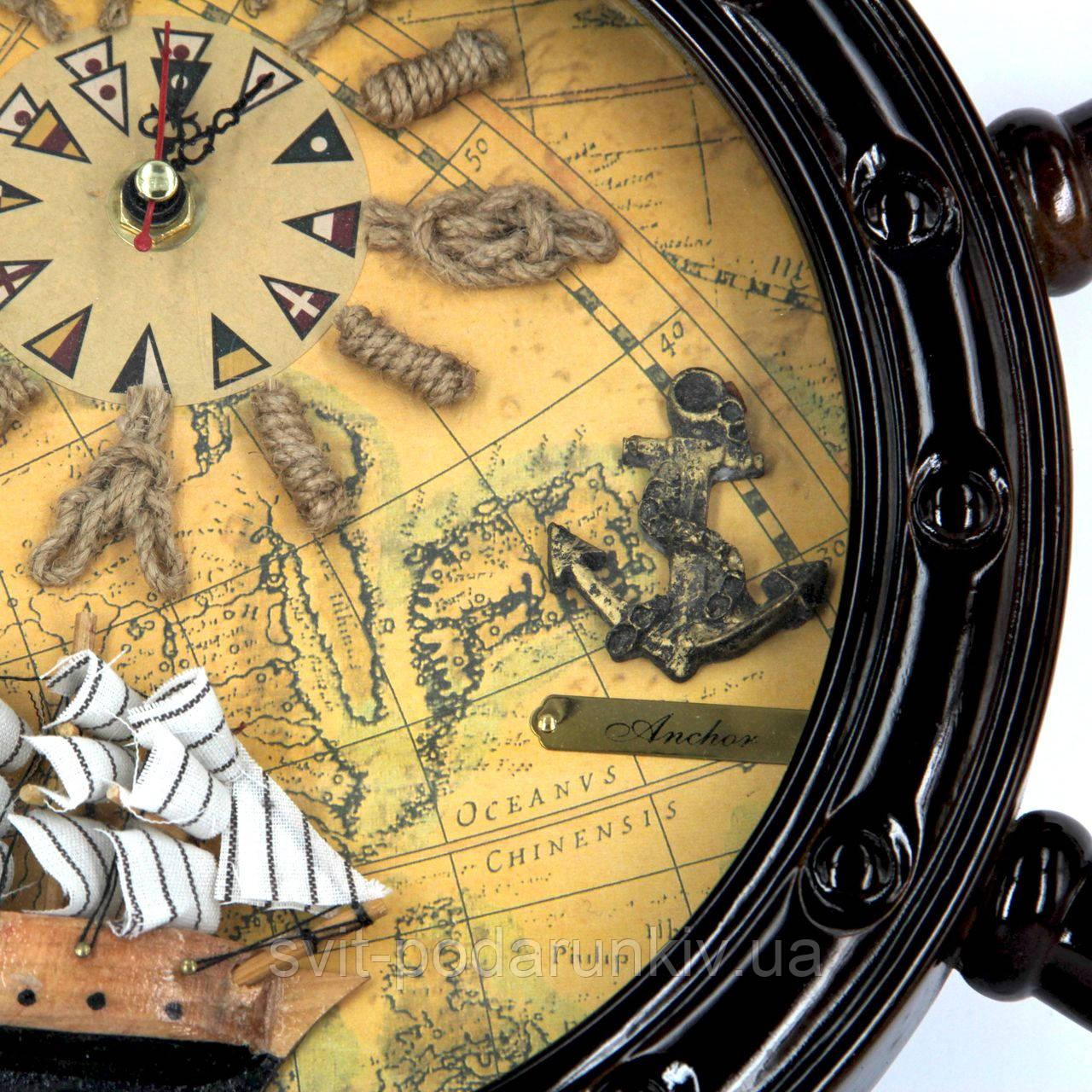 Часы в виде штурвала