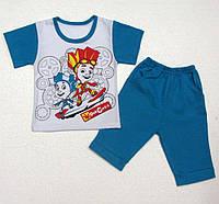 Комплект детский летний для мальчика Фиксики, футболка и шорты, р.р.86-128 см