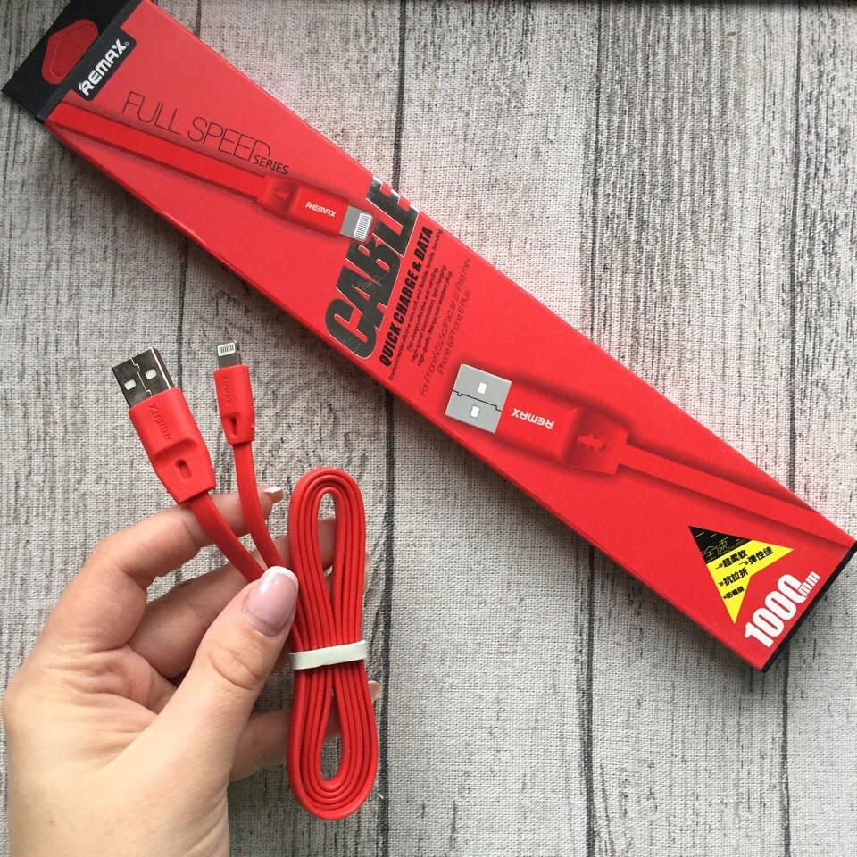Красный шнур Remax USB full speed Cable для iPhone, iPad