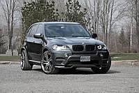 Губа докладка тюнинг обвес бампера BMW X5 E70 рестайлинг в стиле Performance