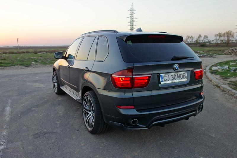0633c85f8e1 Юбка заднего бампера тюнинг BMW X5 E70 рестайл стиль Performance ...