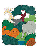 HAPE Двухсторонний пазл  Животные Африки серии George Luck (E6520)