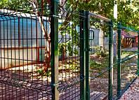 1 Ограждение / Забор секционный 2 м х 2,5 м из сварной сетки с полимерным покрытием. Эконом, фото 1