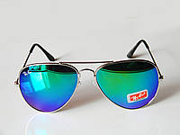 Очки капли авиаторы Aviator 3026 капля сине-зеленые