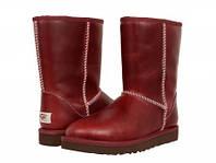 Мужские кожаные Сапоги UGG (ОРИГИНАЛ) Classic Short Leather Red