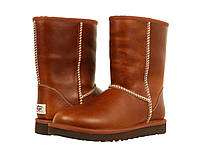 Мужские угги  кожаные UGG (ОРИГИНАЛ) Classic Short Leather Chestnut
