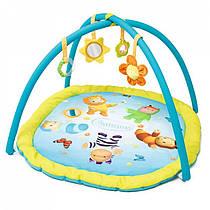 Развивающий коврик детский Cotoons Smoby 110212N голубой