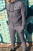 Серый мужской спортивный костюм Nike  2017