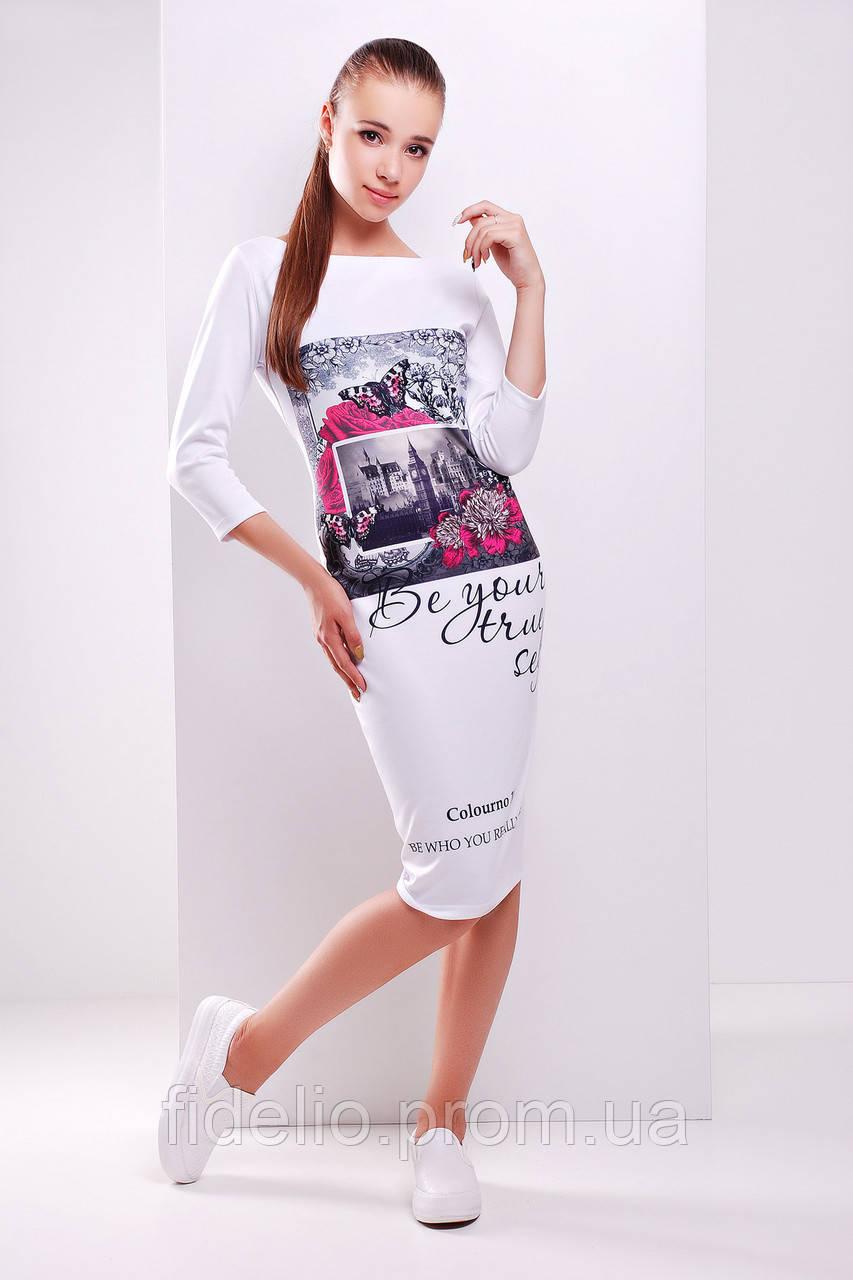 платье GLEM Colourno 19 белый платье Лоя-2Ф д/р