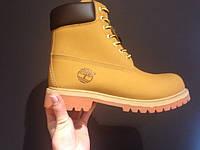 Зимние ботинки Timberland Classic 6 inch с мехом желтые, теплые (тимберленд)