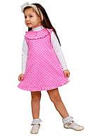 Сарафан детский для девочки М -1025-1 рост 104 110 116 122 и 128 вельвет х/б, фото 1
