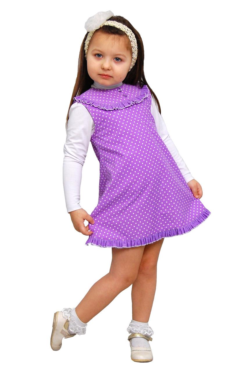 """Сарафан детский для девочки М -1025-1 рост 104 110 116 122 и 128 вельвет х/б тм """"Попелюшка"""""""