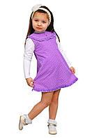 Сарафан детский для девочки М -1025-1 рост 104-128 вельвет х/б