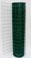 Сеткасварная  с ПВХ . Ячейка 50х100, рулон 10 м,высота 1,5м