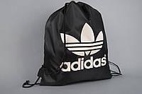 Рюкзак - сумка Адидас, Adidas, для футбольной обуви, черная, ф4725