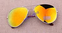 Очки капли авиаторы Aviator 3026 желто-красные капля