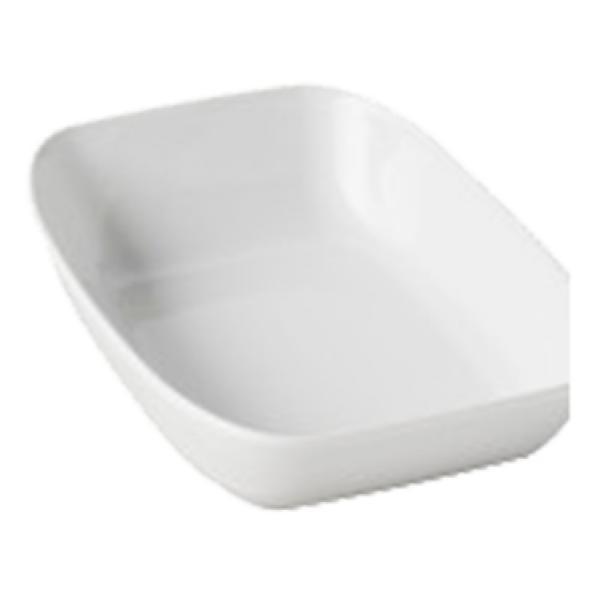 Тарелка прямоугольная белая Revol серия Club (20,7х14,4х4,8 см)