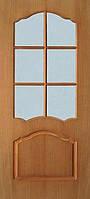 Двери Каролина стекло сатин шпон натуральный