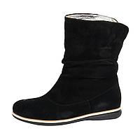 Комфортные ботинки в натуральной замше черного цвета, М-21 NEW М-21