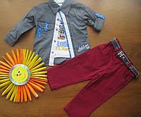 Костюм   для мальчика с пиджаком, рубашкой, брюками и галстуком РАЗМЕР 1