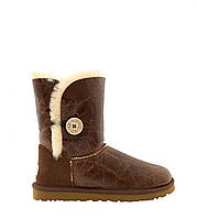 Натуральные угги UGG Australia (Угги Оригинал) Bailey Button Krinkle Chestnut