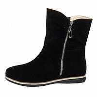 Удобные высокие ботинки из натуральной замши черного цвета, М-20 NEW М-20