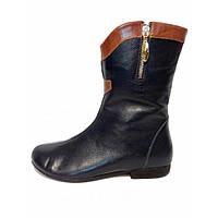 Ботинки из натуральной кожи темно-синего цвета, на низком ходу,  М-11 NEW М-11