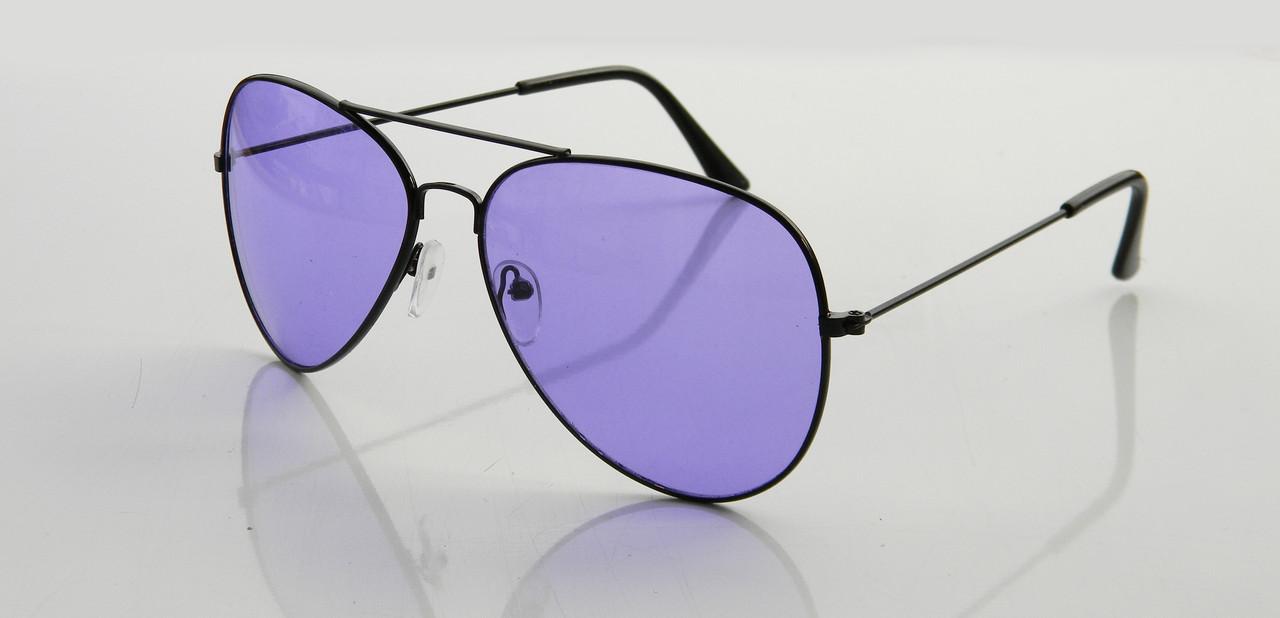 Очки капли авиаторы Aviator 3026 капля фиолетовые