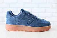 Только размер 43 и 46!!!! Мужские кроссовки Nike Air Force замшевые/натуральный замш