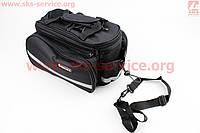 Отличная сумка  трансформер на багажник велосипеда GIANT 33*16*15