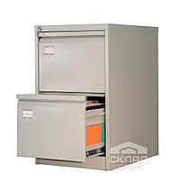 Картотечный шкаф на 2 ящика формат foolscap и А4 (AFC 02) 713(h)х467х630 мм