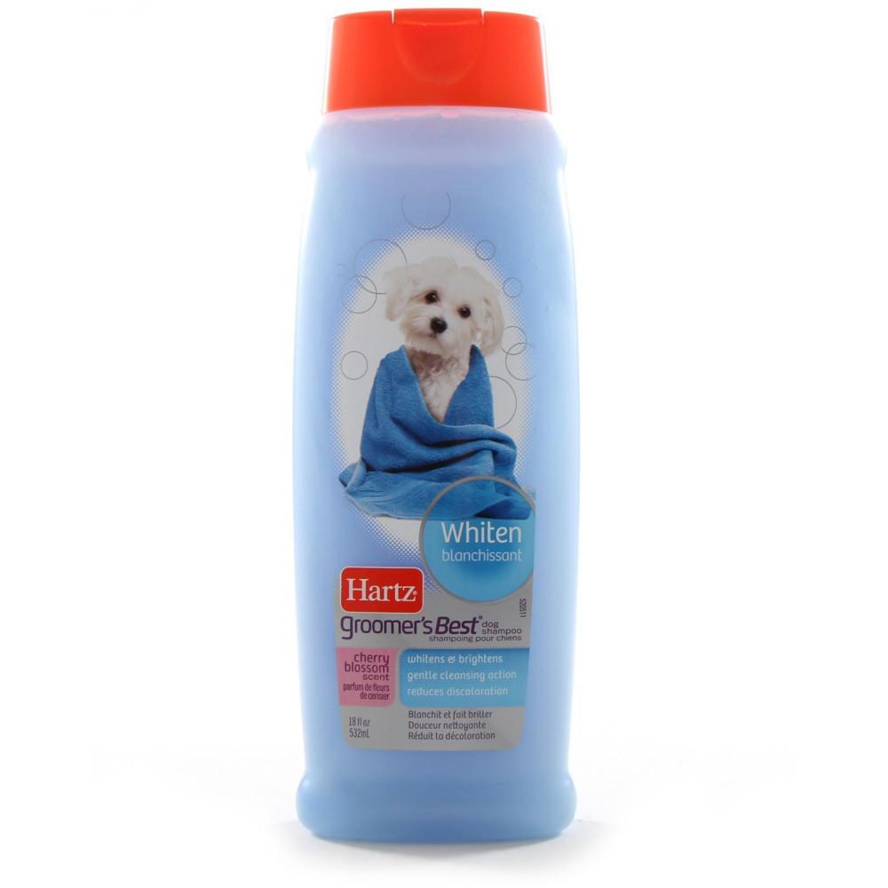 Hartz (Хартц) Groomer`s Best Whitener Shampoo 532мл - шампунь для собак со светлой шерстью с ароматом вишни