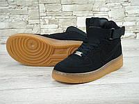 Кроссовки Nike Air Force High Black Gum (аир форс, эир форсы)