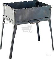 Мангал раскладной на ножках из стали с ручкой для переноски  (мангал чемодан)