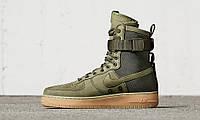 Кроссовки Nike Special Field SF Air Force 1 зеленые (найк форс, аир форсы)  43