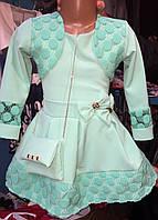 Милое платьице для девочки с сумочкой
