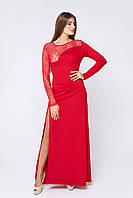 Вечернее длинное платье Рафаэлла красное