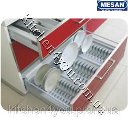 Лоток для тарілок у висувний ящик 845-480 мм. сірий