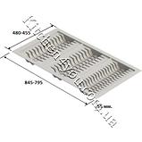 Лоток для тарелок в выдвижной ящик 845-480 мм. серый , фото 2