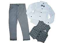 Комплект-тройка для мальчика,  Boddy boy размеры 1-5 года арт. 5512